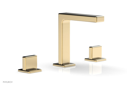 """Phylrich MIX Widespread Faucet - Blade Handle 6-3/4"""" Height 290-01-004 Satin Bronze"""