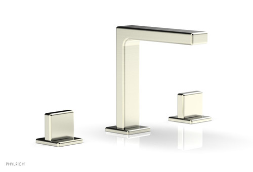 """Phylrich MIX Widespread Faucet - Blade Handle 6-3/4"""" Height 290-01-015 Satin Nickel"""