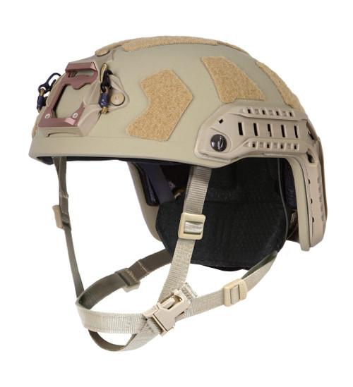 Ops-Core FAST Super High Cut ballistic tactical helmet in tan