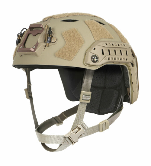 Ops-Core FAST SF Carbon Composite tactical helmet in tan