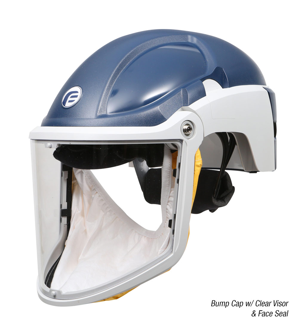 PureFlo 3000 Powered Air Purifying Respirator (PAPR) Bump Cap with Clear Visor and Face Seal