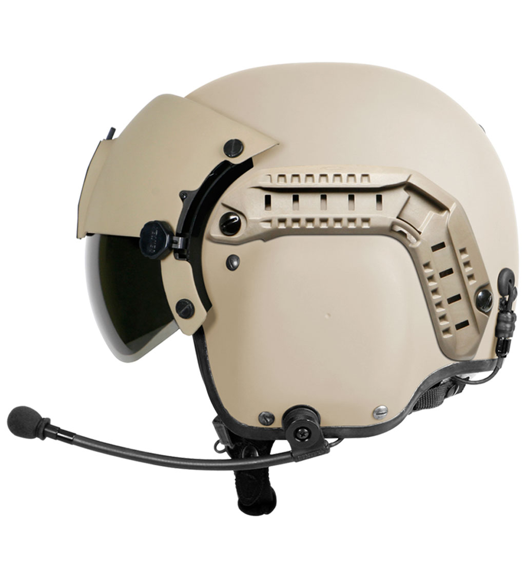 Gentex HGU-56/P Improved Rotary Wing Helmet System with Accessory Rail Connectors (ARCs)