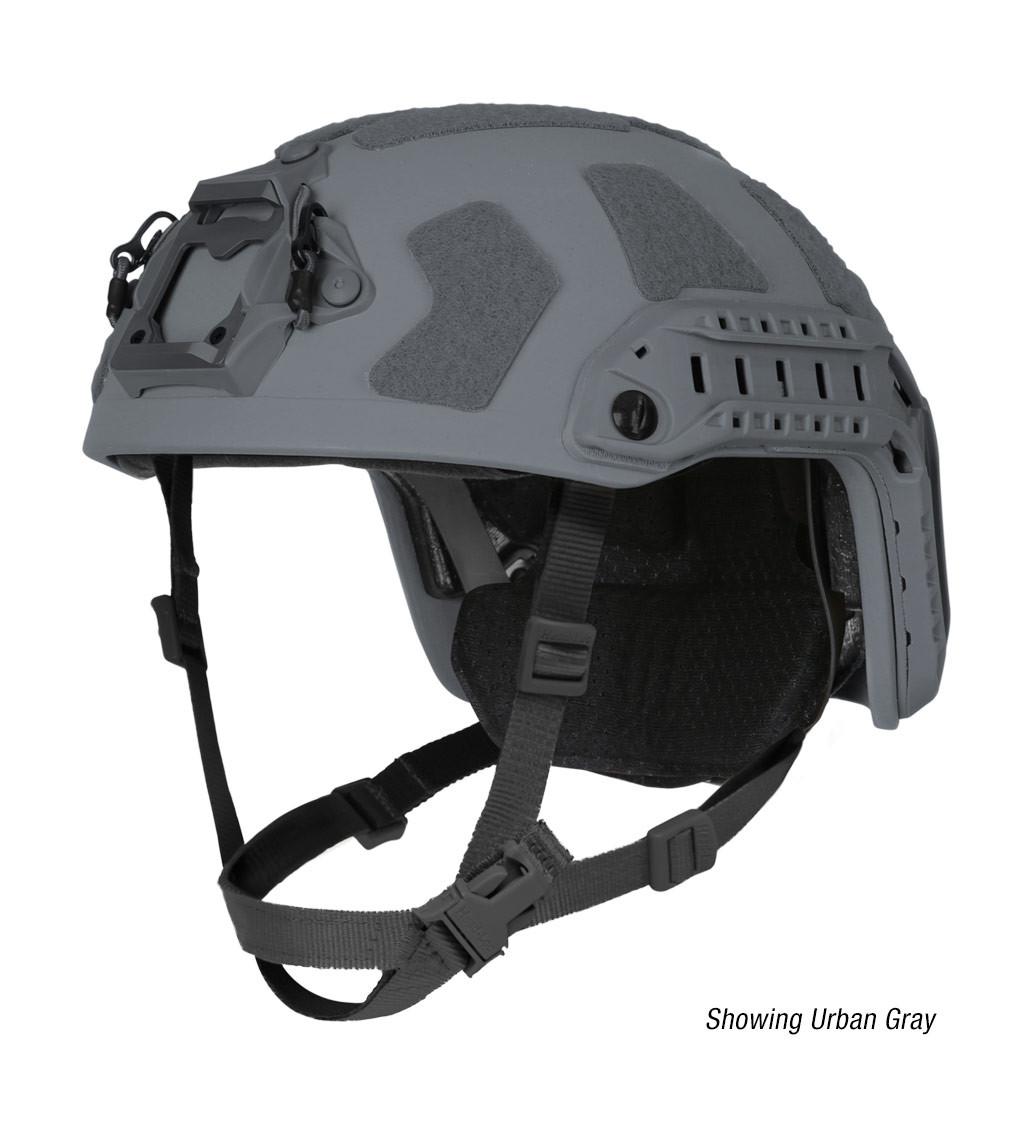 Ops-Core FAST Super High Cut ballistic tactical helmet in urban gray