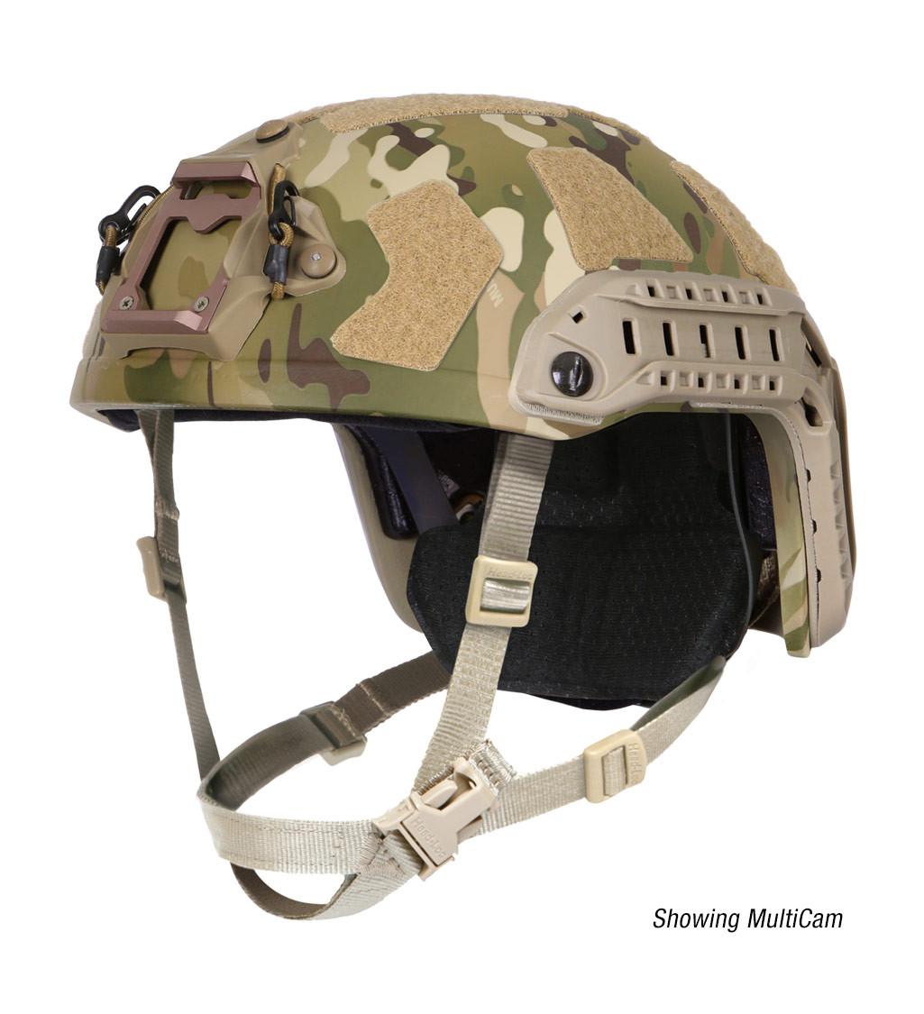 Ops-Core FAST Super High Cut ballistic tactical helmet in multicam