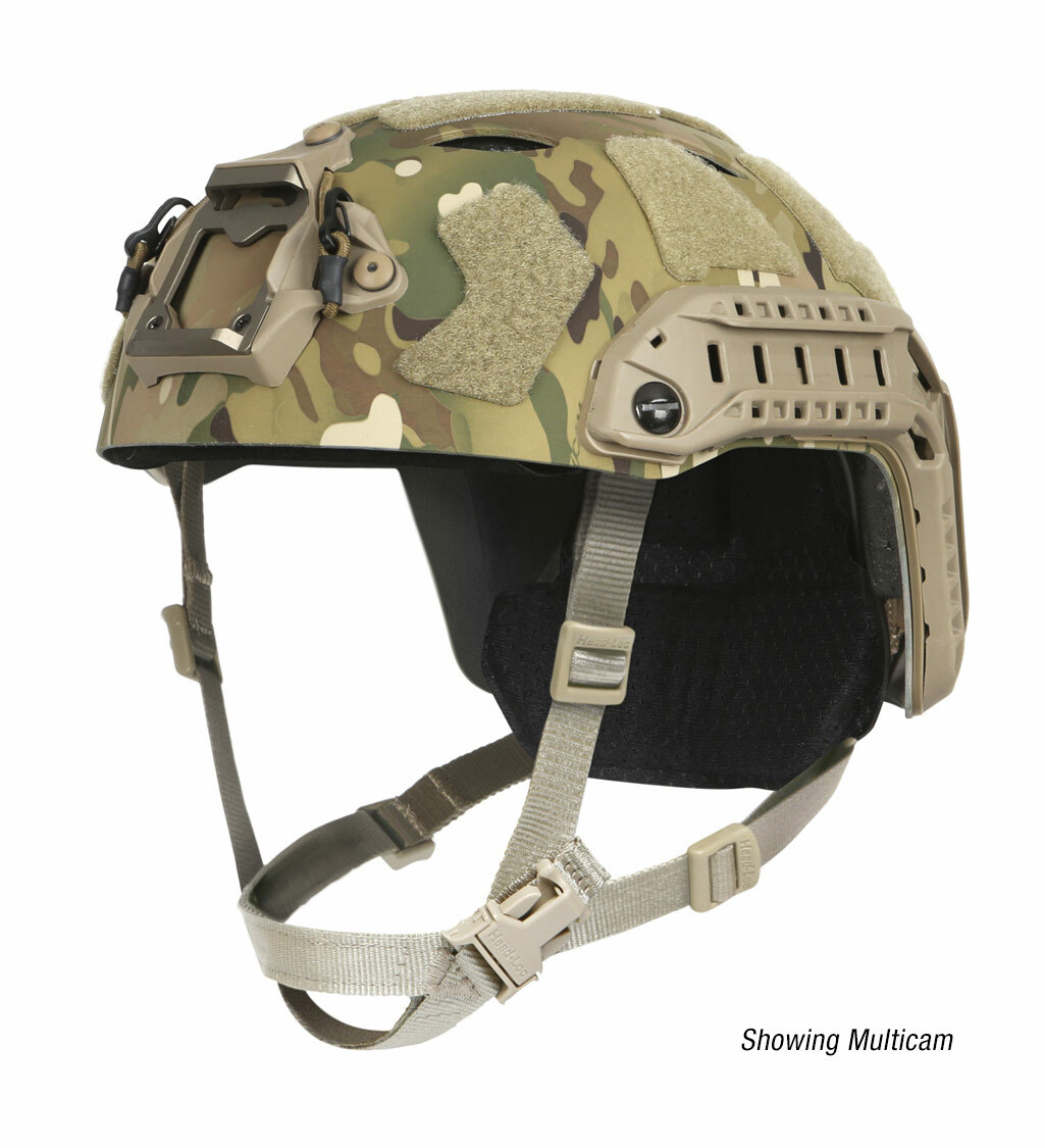 Ops-Core FAST SF Carbon Composite tactical helmet in multicam