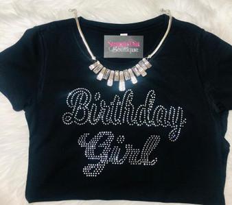 Birthday Girl Rhinestone Bling Shirt