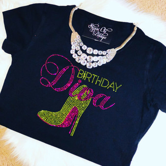 Birthday Diva Pink and Lime Green