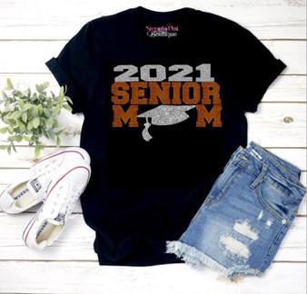 Senior 2021 Mom Orange Copper and Silver