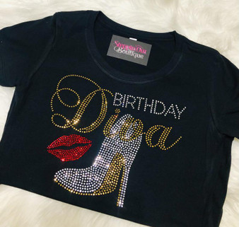 Birthday Diva with lips