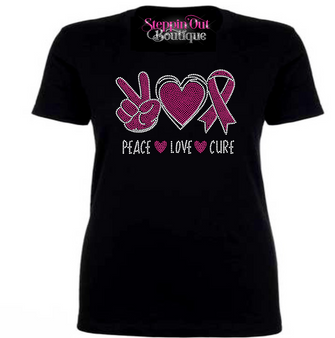 Peace Love Cure Hot Pink