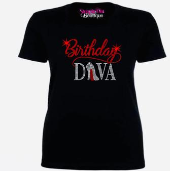 Birthday Diva 2 Rhinestone Bling Shirt