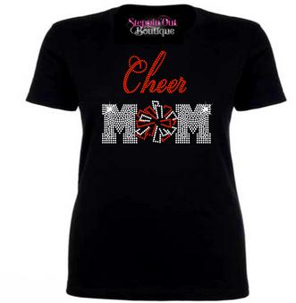 Cheer Mom Rhinestone Bling Shirt