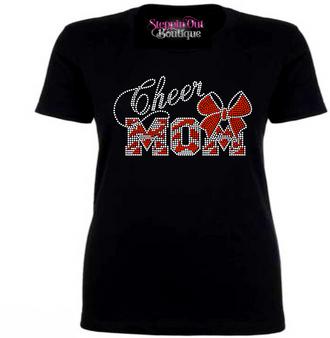 Cheer Mom Rhinestone Bling Shirt 2