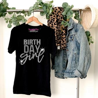 Birth Day  Girl Rhinestone Bling Shirt