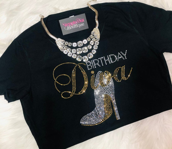 Birthday Diva Topaz and Clear