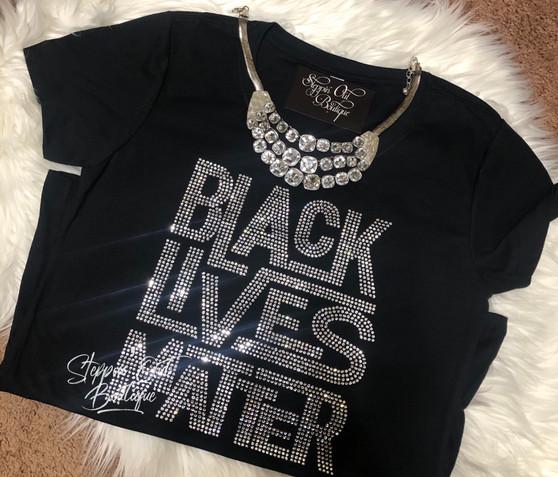 Black Lives Matter Clear Rhinestone