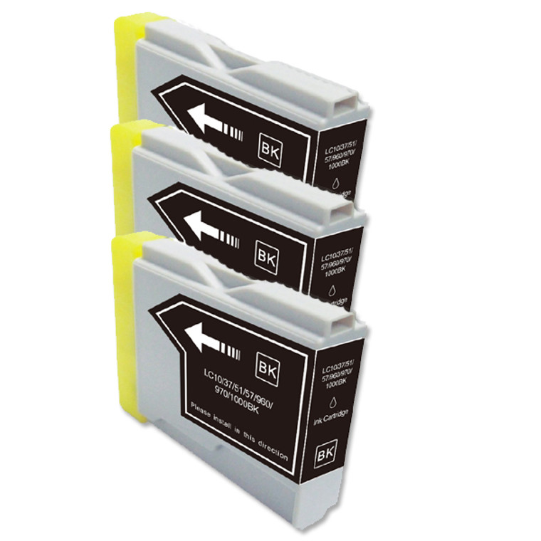 5-Pack BLACK Compatible Ink for Brother LC51BK
