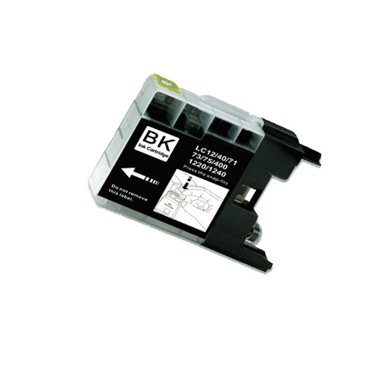 10-Pack BLACK Compatible Ink for Brother LC75BK