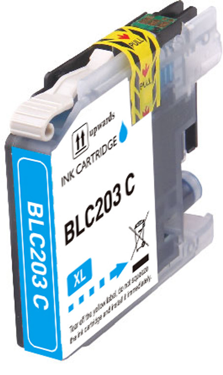 1-Pack CYAN Compatible Ink for Brother LC203 XL