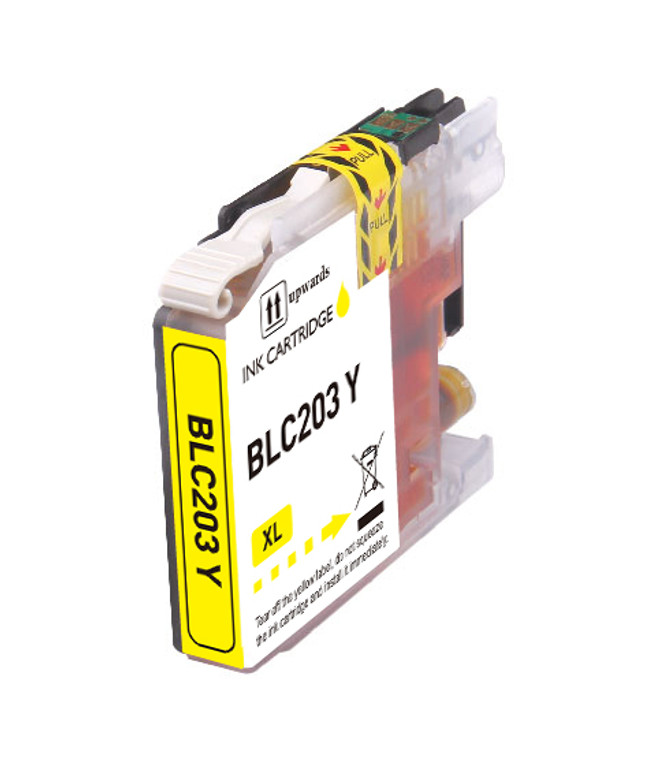 1-Pack YELLOW Compatible Ink for Brother LC203 XL