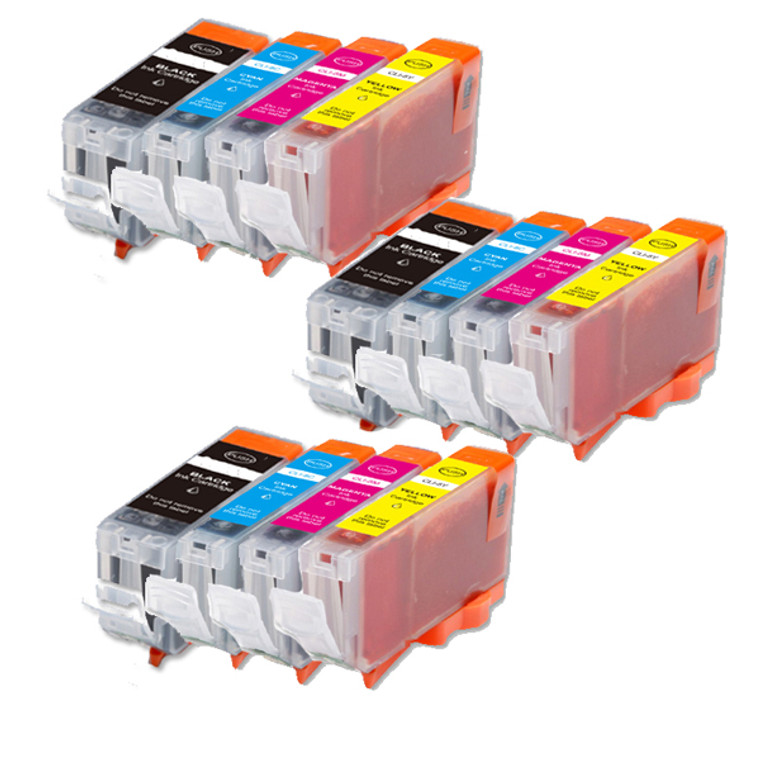 12-Pack Compatible Ink for Canon BCI-3e BCi-6