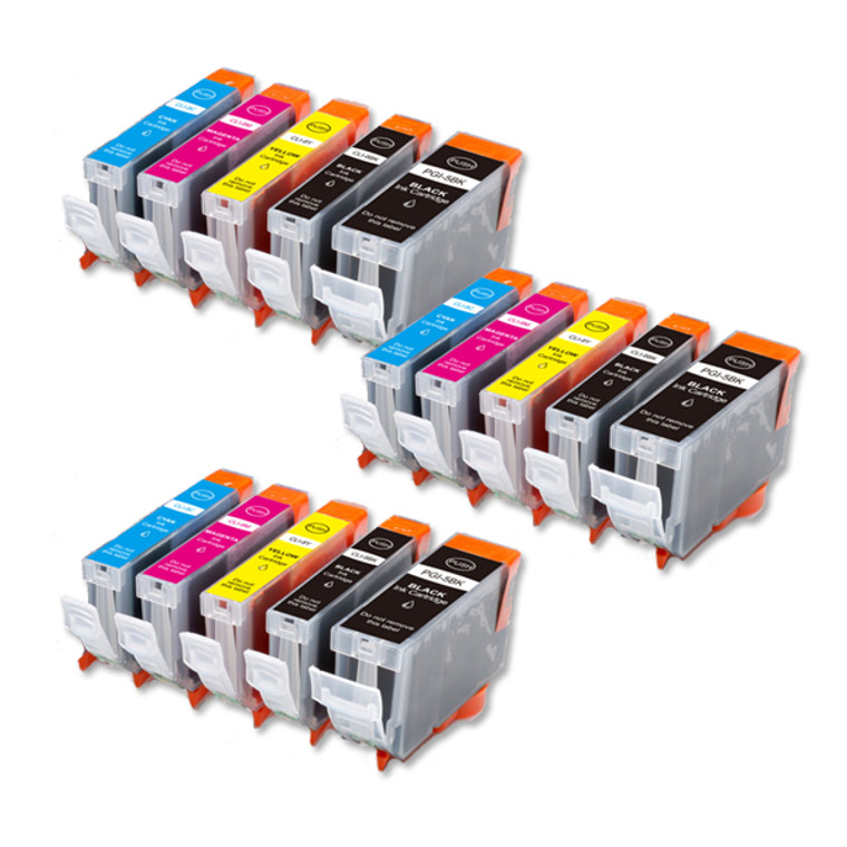 15-Pack Compatible Ink for Canon BCI-3e BCi-6