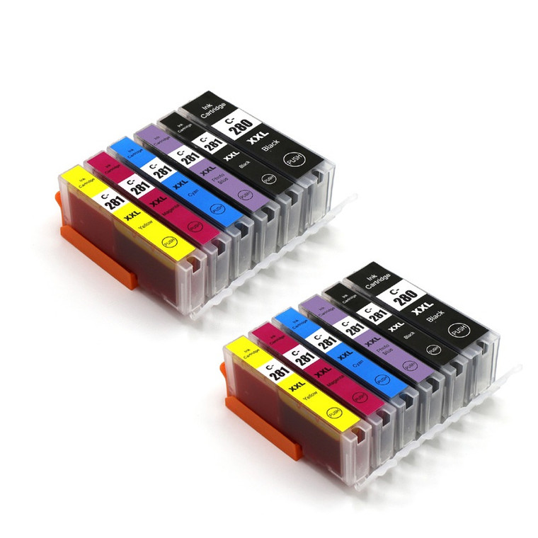 12 Pack Ink Cartridges Compatible for PGI-280XXL / CLI-281XXL