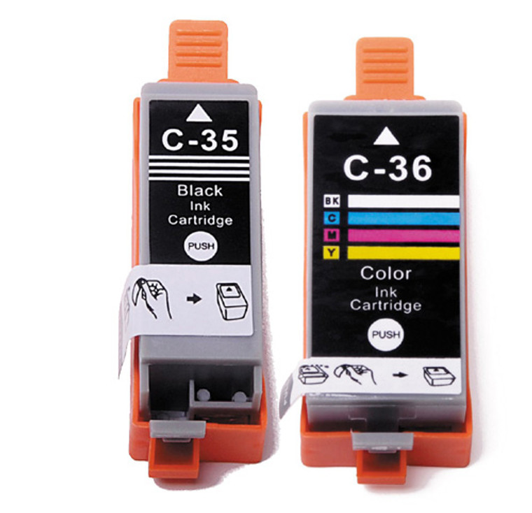 2-Pack Compatible Ink for Canon PGI-35 / CLI-36