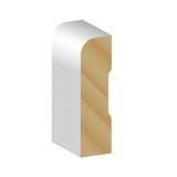 Primed Pine F/J Pencil Round 66 x 18 x 5.4m