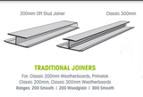 Buy Weathertex 300mm Traditional Off Stud Joiner - Pack of 25 at Megatimber