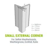 Buy Weathertex Small External Aluminium Corner 3660mm from Megatimber Online