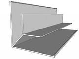 Megatimber Buy Timber Online  Weathertex Large External Corner Large Flange 3.0m MTCR300