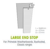 Megatimber Buy Timber Online  Weathertex Large End Stop 3.0m 3660L