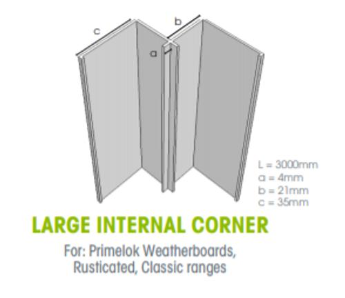 Megatimber Buy Timber Online  Weathertex Large Internal Corner 3.0m 55906