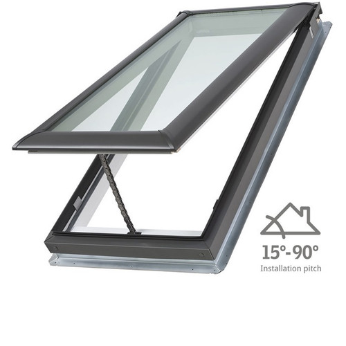 Buy Velux Manual Opening Skylight Pitched Roof 15-90⁰ C08 - 550 x 1400mm Online at Megatimber