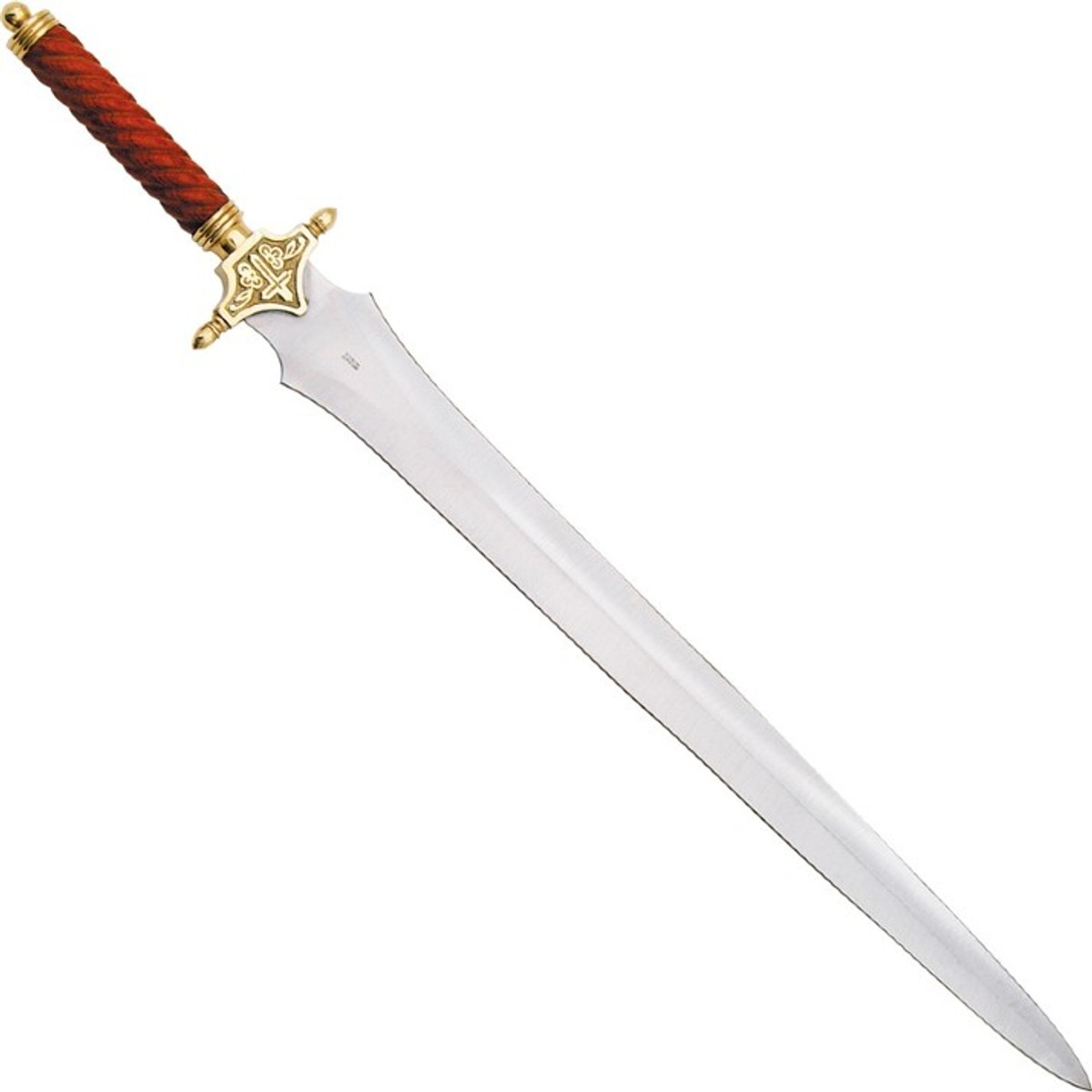 """Pakistan St Michael/'s Gothic Sword 33/"""" overall 24/"""" sharpened double edged stainl"""