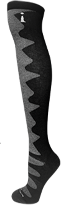 """This sporty new Kneehigh replaces the previous ladies kneehigh dress sock IF302. A more """"active"""" fit but still so comfortable and stretchier for staying up under action! Incrediwear KP series."""