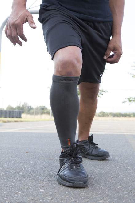 Wet the Incrediwear calf sleeve for enhanced cooling and wear it before during and after for the quickest recovery and reduced swelling after you play!