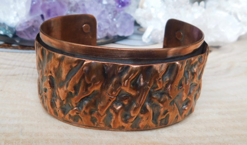 Crinkled Copper Cuff