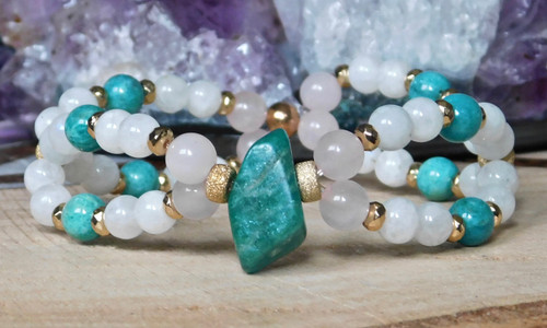 **Amazonite Double Twisted Bracelet