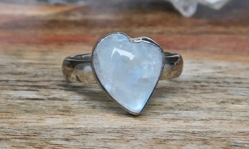 Heart Shaped Moonstone