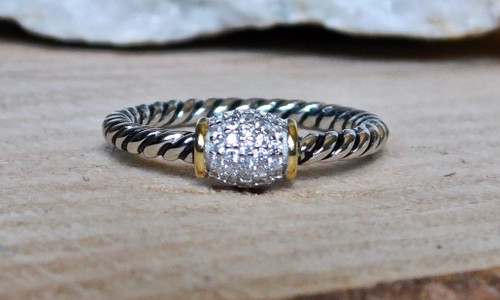 Two Tone Rope Ring
