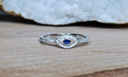 CZ Eye of Protection Ring