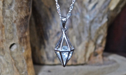 Caged CZ Pendent