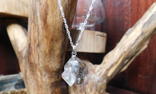 Raw Rutilated Quartz Pendant