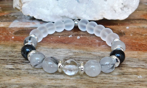 Black Rutilated Quartz Bracelet