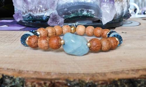Blue Aquamarine Stone Bracelet