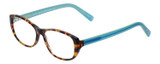 Profile View of Eyebobs Hanky Panky Ladies Cateye Reading Glasses Tortoise Brown Gold Blue 52 mm