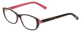 Profile View of Eyebobs Hanky Panky Ladies Cateye Reading Glasses Tortoise Brown Gold Pink 52 mm