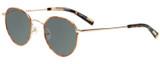 Profile View of Eyebobs BFF 3173-06 Designer Polarized Reading Sunglasses with Custom Cut Powered Smoke Grey Lenses in Orange Tortoise Havana Gold Unisex Oval Full Rim Metal 46 mm
